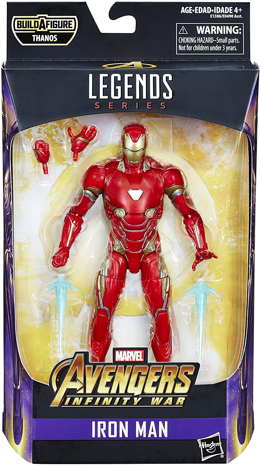 Marvel Legends - Avengers: Infinity War - Thanos (Infinity War) BAF - Iron Man Action Figure (E1386)