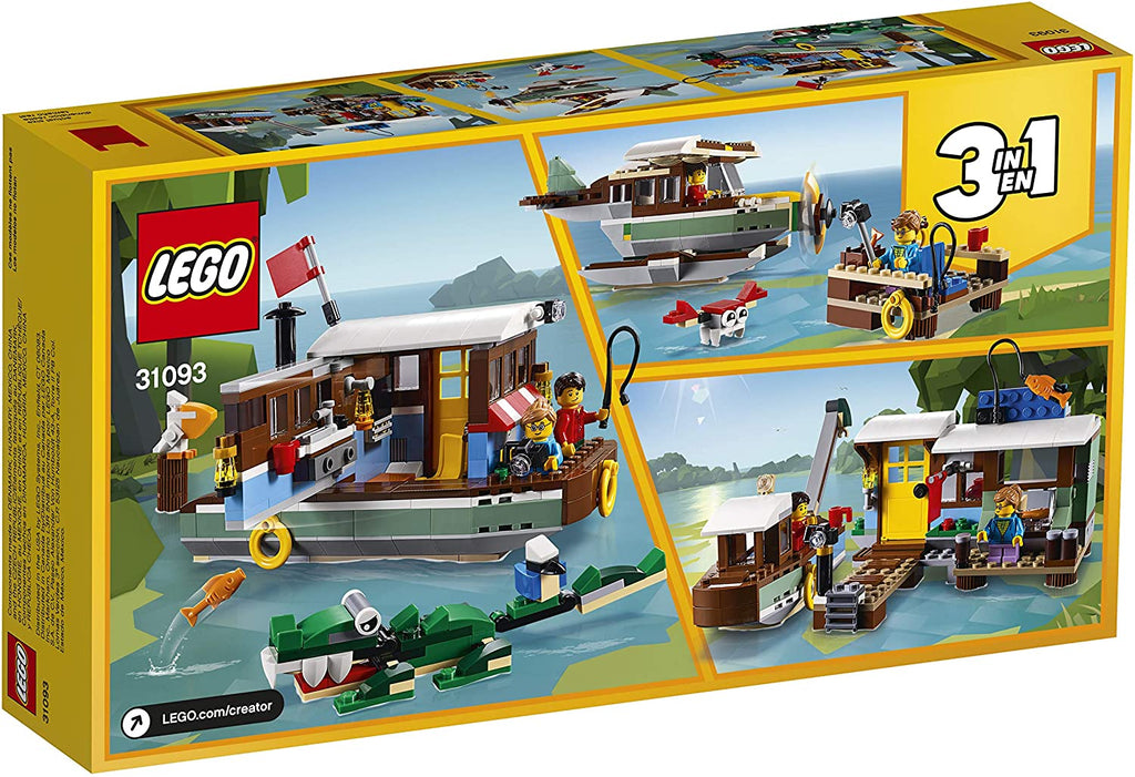 LEGO Creator - Riverside Houseboat (31093) 3-in-1 Building Toy