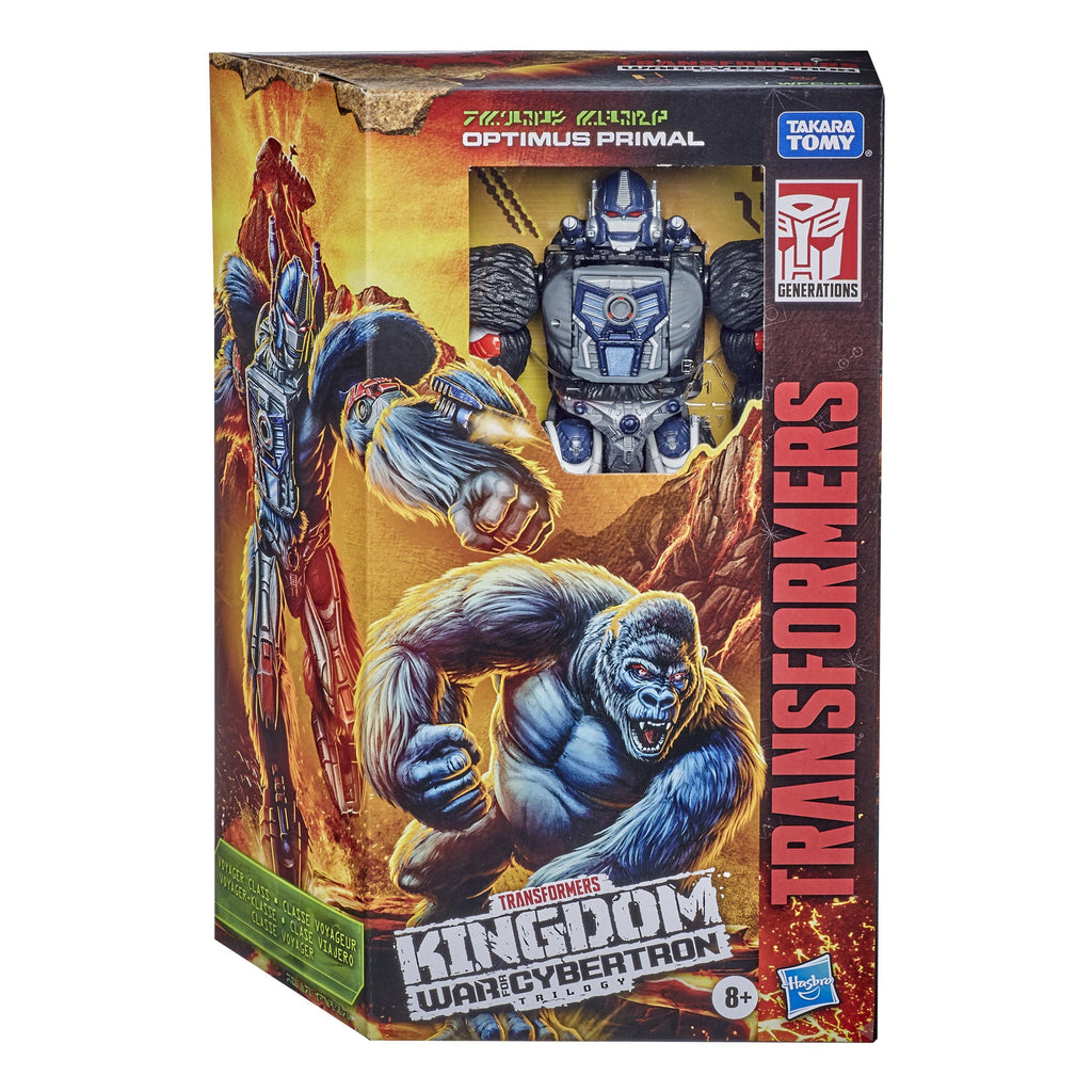 Transformers - War for Cybertron: Kingdom - Voyager Optimus Primal (WFC-K8) Action Figure