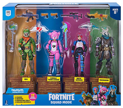 Jazwares - Fortnite Squad Mode Set - Cuddle Team Leader + Rex + Ragnarok + Brite Bomber (FNT0019)