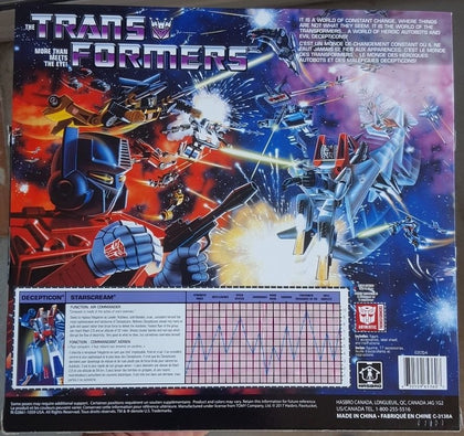 Hasbro - Transformers Vintage G1 Reissue - Decepticon Air Commander Starscream