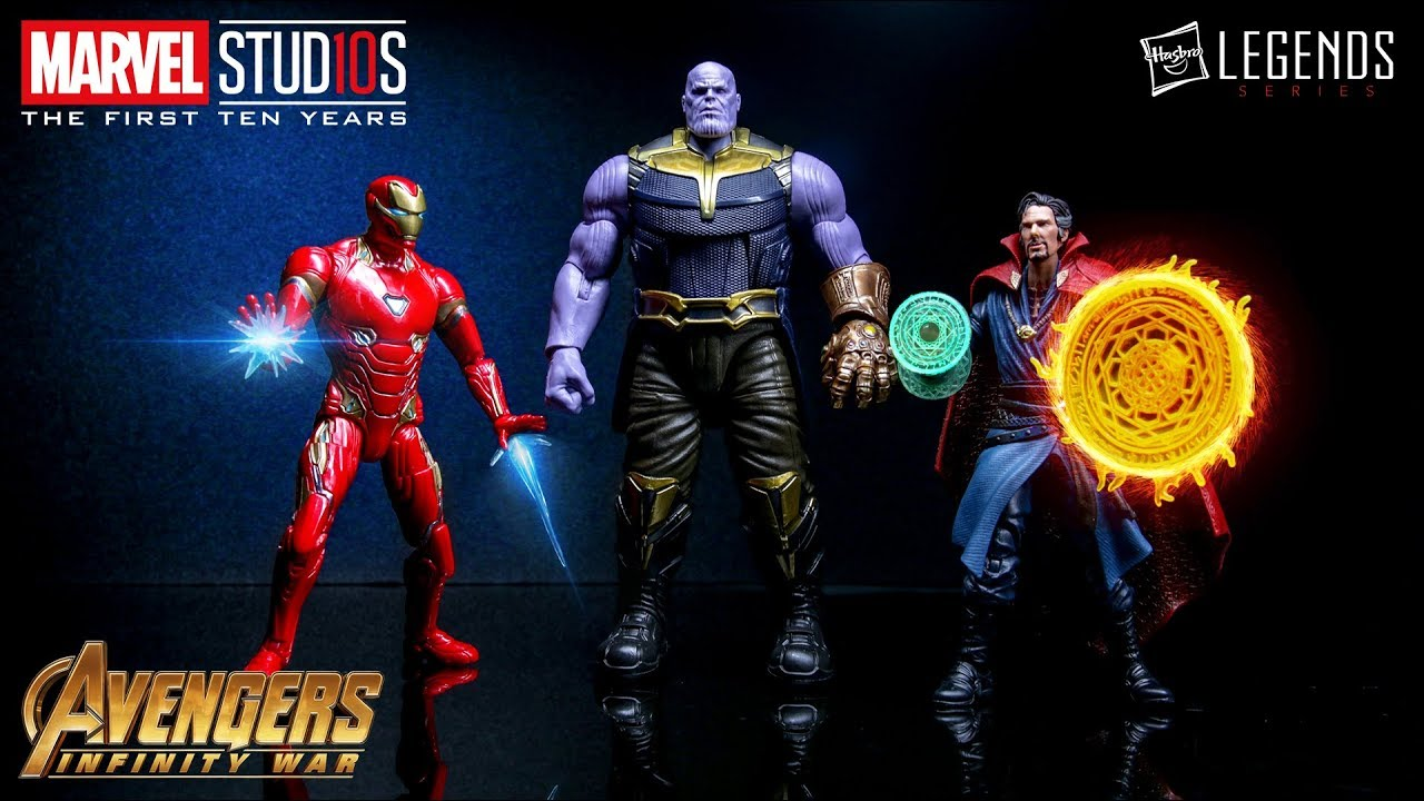 Hasbro Marvel Legends Studios First Ten Years #10 - Iron Man Mark L + Thanos + Doctor Strange (E2451)
