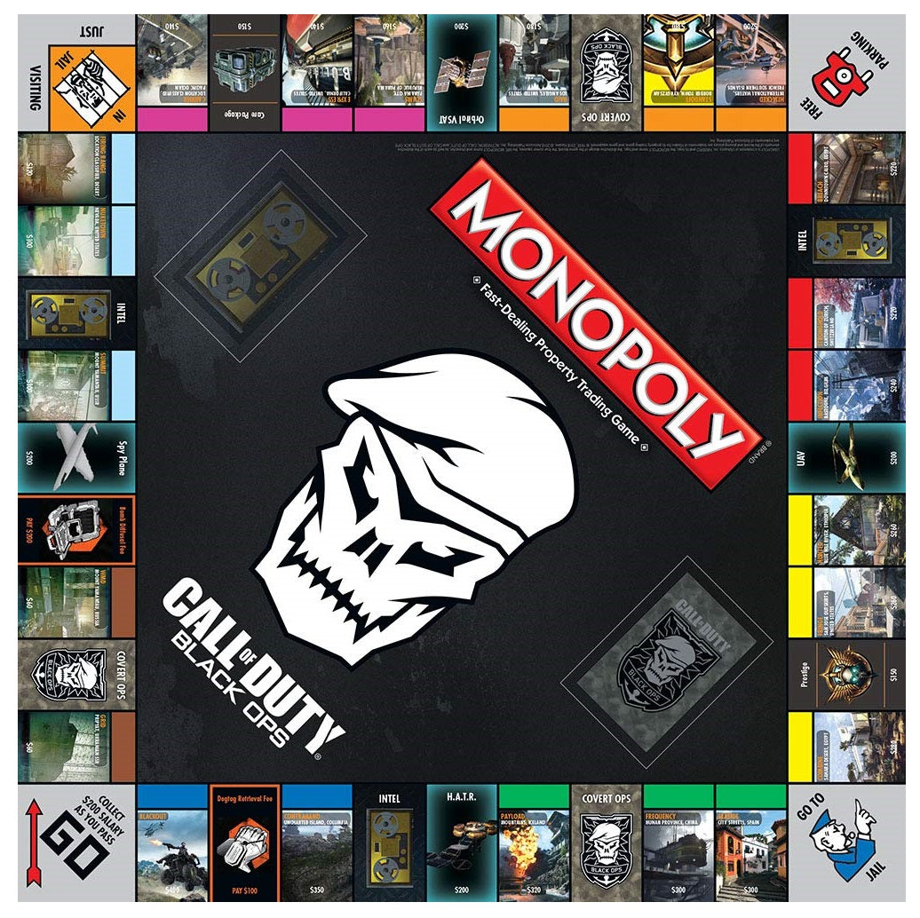 Hasbro Gaming - USAopoly - Monopoly: CoD Call of Duty Black Ops 4 Edition Board Game