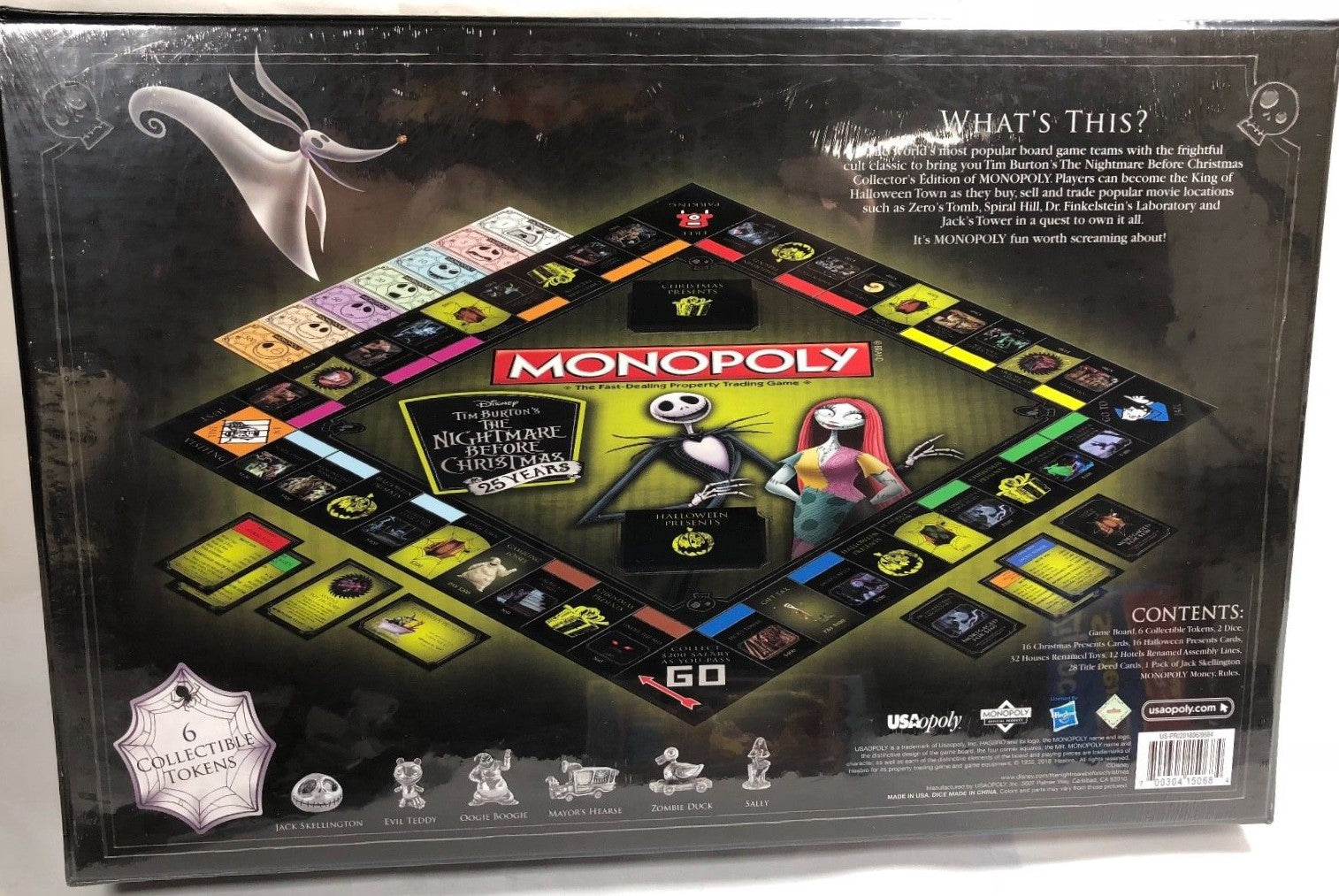 Hasbro / USAopoly - Monopoly: The Nightmare Before Christmas Edition Board Game