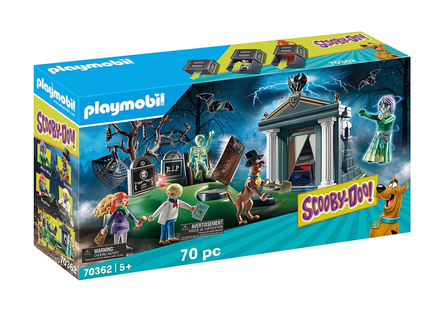 Playmobil - Scooby-Doo! - Adventure in the Cemetery (70362) Play Set