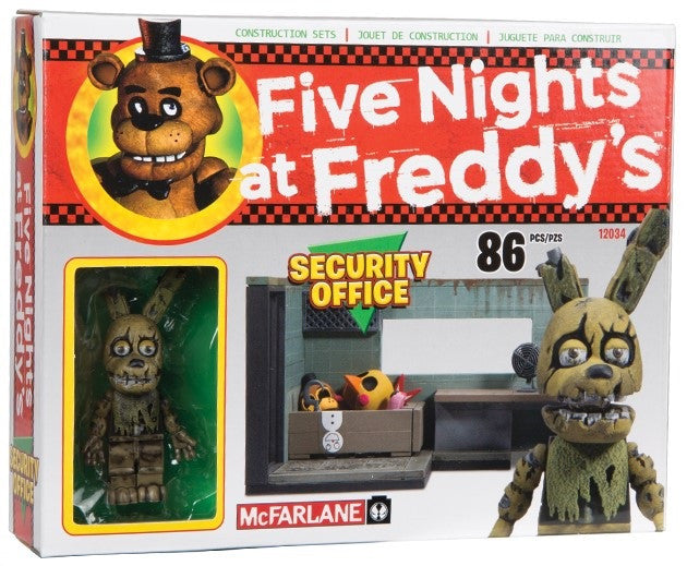 McFarlane Construction Set - Five Nights at Freddy's Security Office with Springtrap Figure (12034)