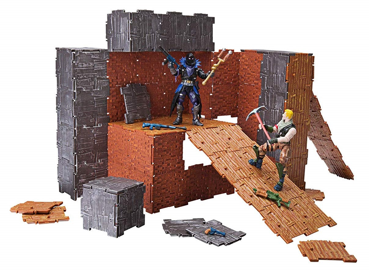 Jazwares - Fortnite Turbo Builder Set - Jonesy & Raven Figures + Building Materials (FNT0036)