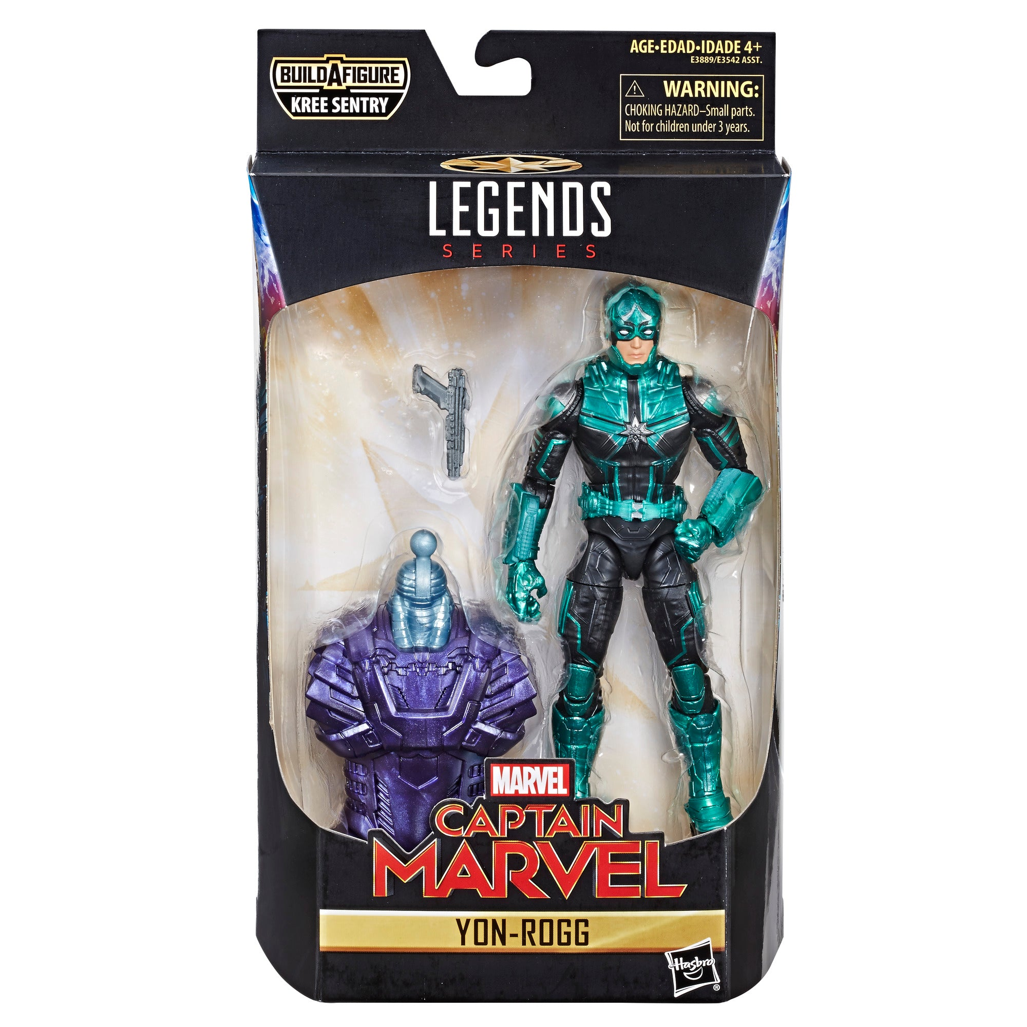 Hasbro - Marvel Legends - Captain Marvel - Kree Sentry BAF - Yon-Rogg Figure (E3889)
