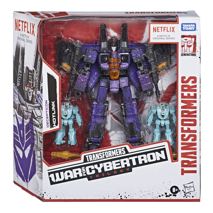 Transformers - War for Cybertron Trilogy Netflix Series Edition - Voyager Decepticon Hotlink Battle Pack 3 Figures (E9501)