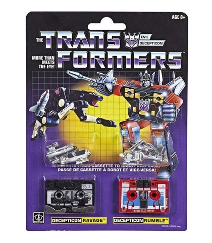 Hasbro - Transformers Vintage G1 Reissue - Decepticon Ravage and Rumble (E5658)