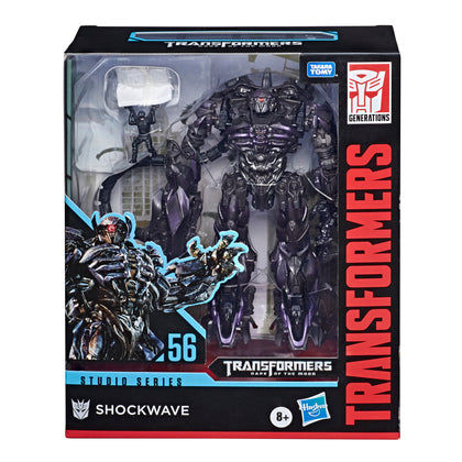 Transformers - Studio Series 56 - Leader Class - Dark of the Moon - 8.5-inch Shockwave, Wheelie, Brains, NEST Paratrooper E7311