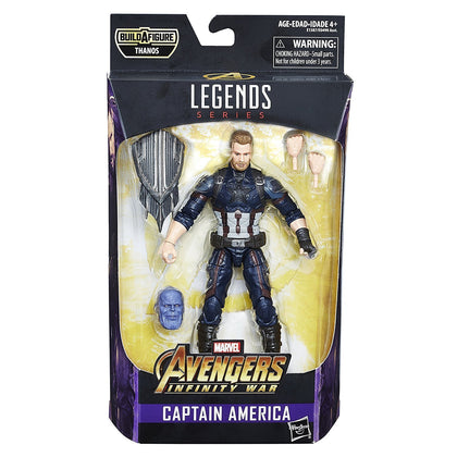 Marvel Legends - Avengers: Infinity War - Thanos (Infinity War) BAF - Captain America Action Figure (E1387)