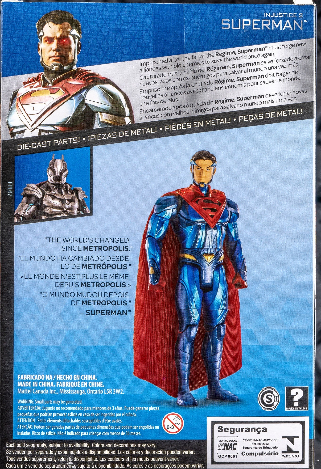 Mattel - Platinum Collection - DC Comics Multiverse - Injustice 2 - Superman 6-Inch Metal Action Figure (FPL68)