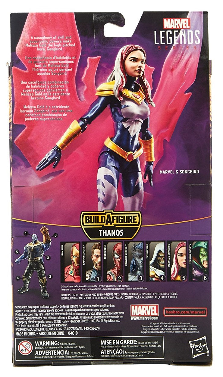 Hasbro - Marvel Legends - Avengers - Thanos (MCU) BAF - Marvel's Songbird Action Figure (E1389)