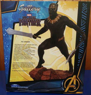Diamond Select Toys - Marvel Gallery - Black Panther Movie - Eric Killmonger 9-inch PVC Diorama Statue