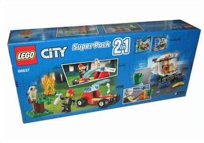 LEGO City - Super Pack 2 in 1 - Forest Fire & Street Sweeper (66637) Building Toy