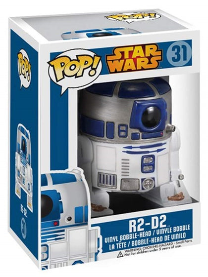 Funko POP! Star Wars - #031 - R2-D2 Vinyl Figure (Original Blue and White Box)