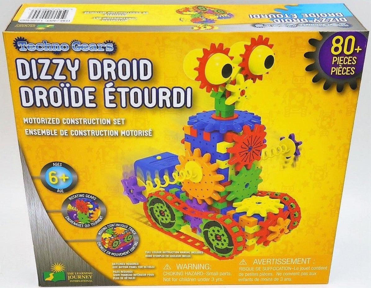 Learning Journey - Techno Gears - Dizzy Droid + Crazy Train Motorized Building Sets