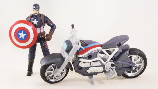 Marvel Legends - Captain America: Civil War 2-Pack - Captain America with Motorcycle (B6354)