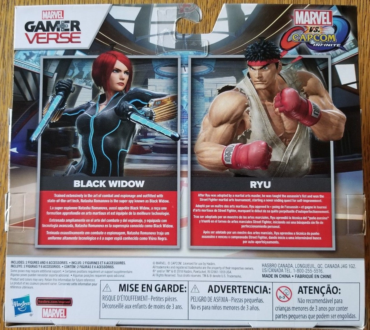 Hasbro - Marvel Gamerverse - Marvel vs Capcom Infinite - Black Widow + Ryu Street Fighter (E3595)