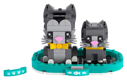 LEGO BrickHeadz - Shorthair Cats - Kitten & Shorthair Cat (40441) Building Toy