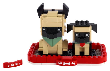 LEGO BrickHeadz - Puppy & German Shepherd (40440) Building Toy