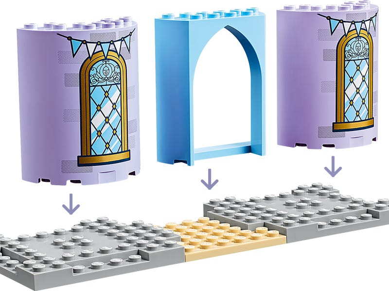LEGO Disney - Cinderella's Castle Celebration (43178) Building Toy