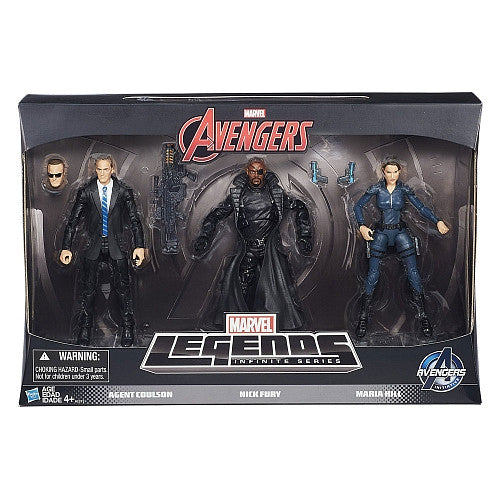 Marvel Legends - The Avengers Series - Agents of Shield 3-Pack (Agents Coulson, Hill & Fury)
