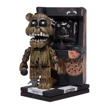 McFarlane Construction Set - Five Nights at Freddy's - Phantom Freddy Figure with Arcade Cabinet (12663)