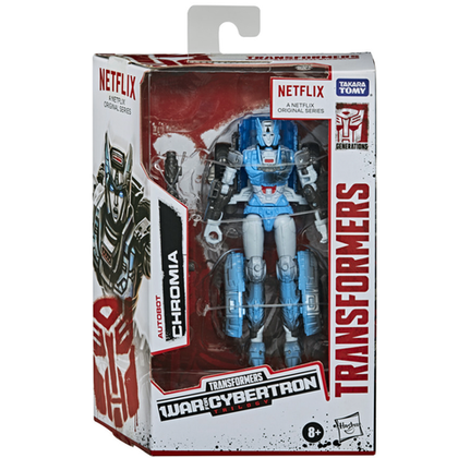 Transformers - War for Cybertron Trilogy Netflix Series Edition - Autobot Chromia Action Figure (E9504)