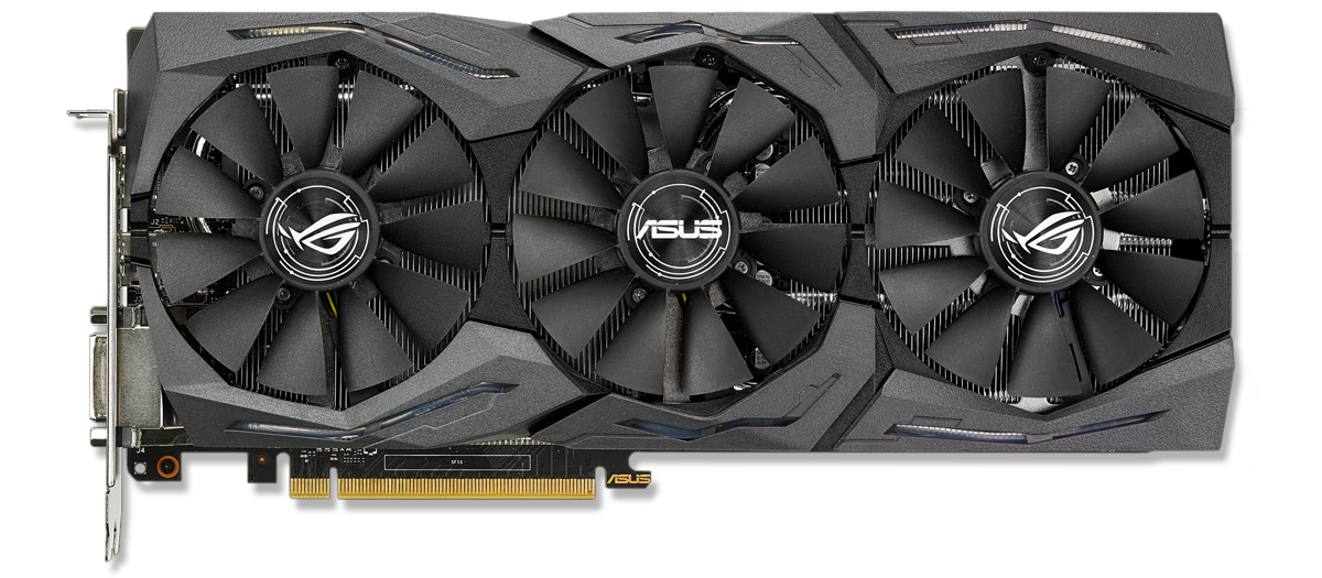 Asus NVIDIA GeForce GTX 1070 8GB ROG STRIX GAMING OC - Front