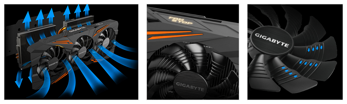 Lease the Gigabyte GTX 1070 with WINDFORCE 3X cooling system