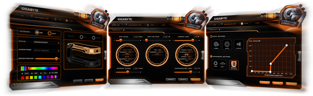 Lease the Gigabyte GTX 1070 G1 Gaming - Xtreme Engine