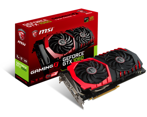 Lease the MSI GeForce GTX 1060 Gaming X 3GB Graphics Card - Box Shot