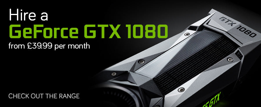 Hire a GeForce GTX 1080 Graphics Cards at an affordable monthly rate from £74.99