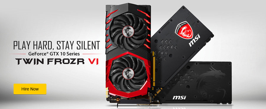Hire an MSI GeForce GTX 10 Series Graphics Cards at an affordable monthly rate.