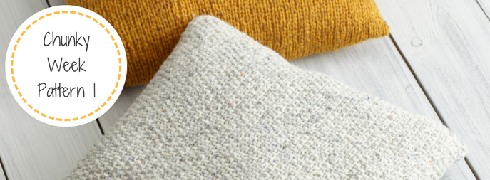 Chunky Knitted Cushion FREE Pattern