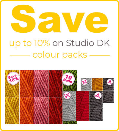 Save 10% on Deramores Studio Dk with Colour packs