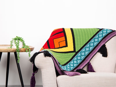 Aztec Tile Blanket Knit-Along by Lynne Rowe in Deramores Studio DK