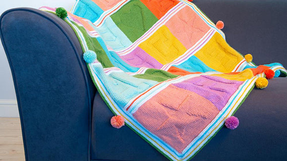 Bright Blocks Baby Blanket KAL