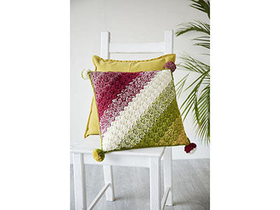 Colour Blend C2C Cushion by Sarah Shrimpton