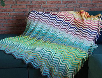 Chevrainbow Blanket CAL by New Leaf Designs
