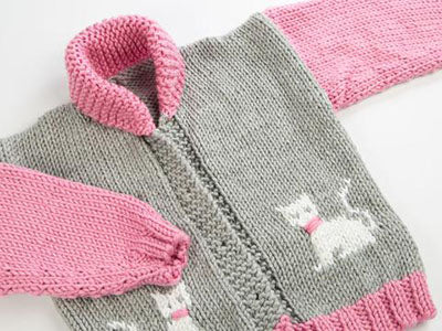 Childs Chunky Cat Jacket by Fran Morgan