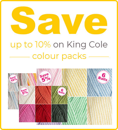 King Cole Big Value Chunky yarn packs