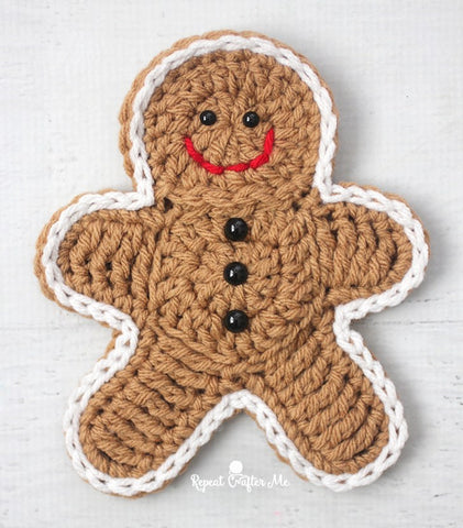 Crochet Gingerbread Man Hanging Decoration