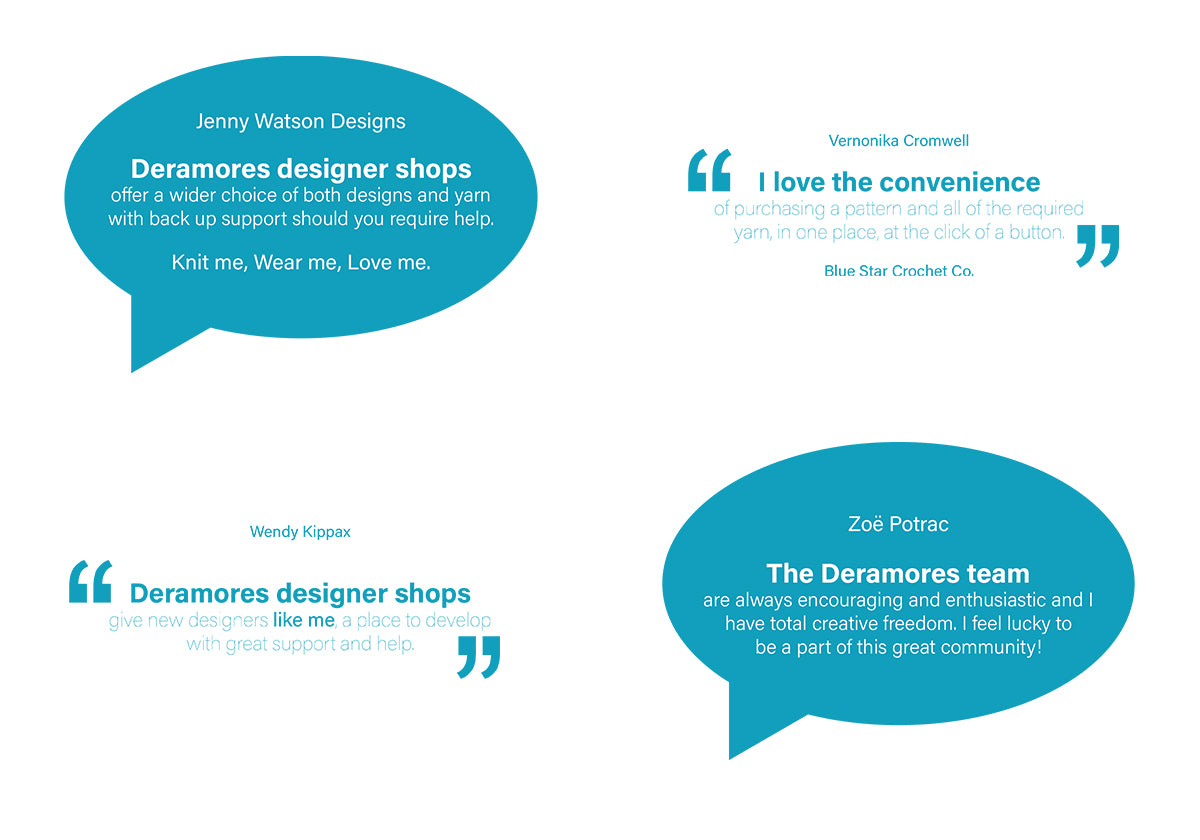 Designers feedback on Deramores Designer Shops