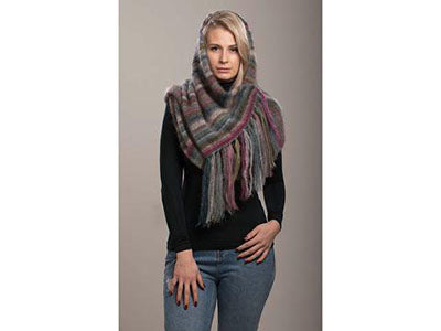 Earth Stripe Wrap by Kaffe Fassett