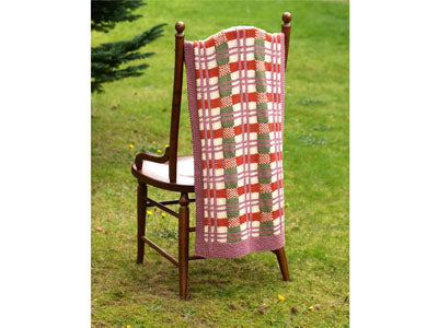 FREE Tartan Jewel Throw by Jo Allport in Rico Design Creative Cotton Aran Pattern