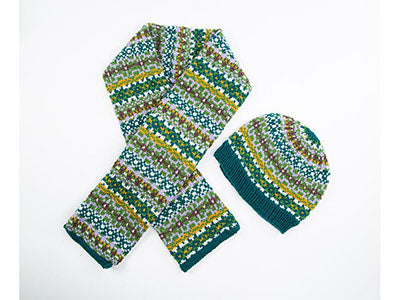 Fair Isle Beanie and Scarf
