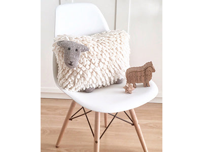 Sheep Cushion by Hand Knitted Things